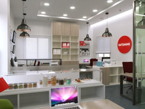 Ανακαίνιση των γραφειακών χώρων της εταιρείας «Χατζάκης Α.Ε» στο Ρέθυμνο