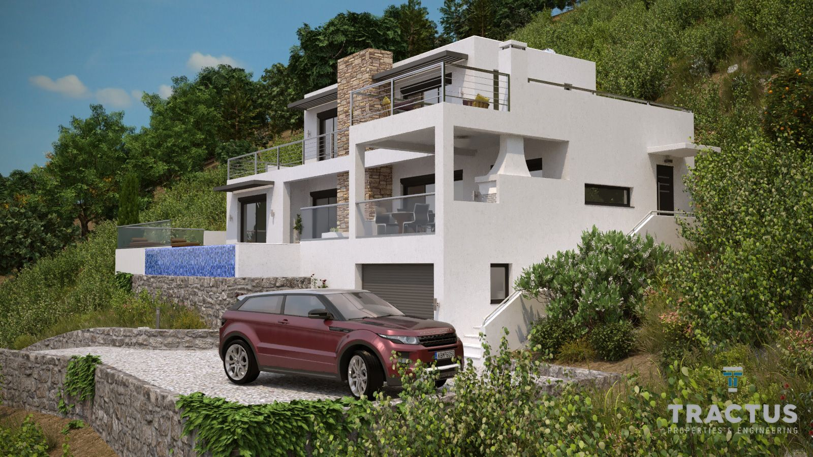 New seafront villa with swimming pool south Crete Rethymno