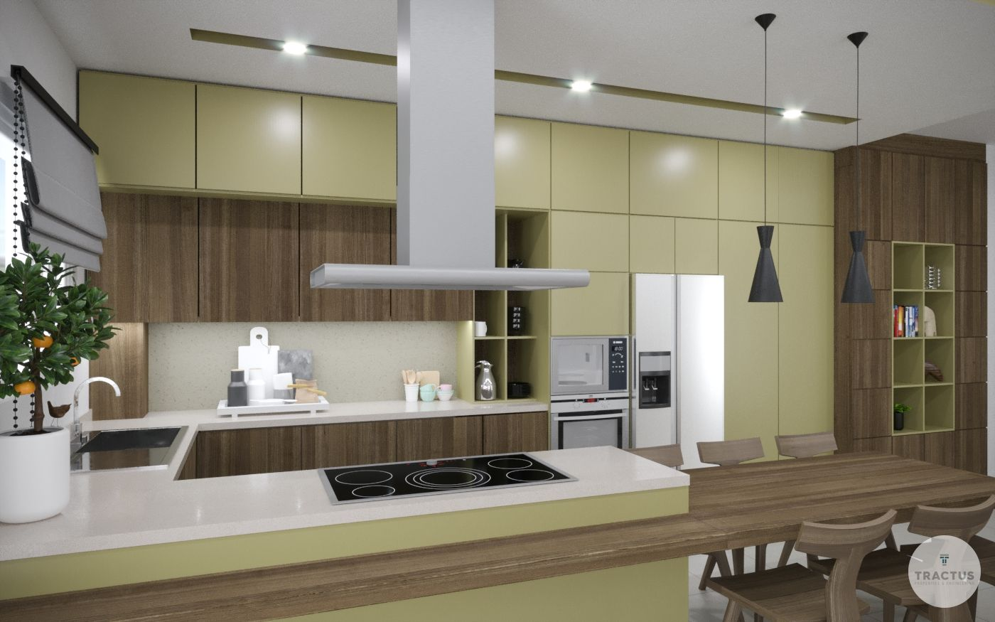 Total transformation - renovation of a shop into a modern family apartment.